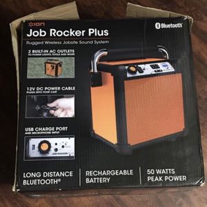 Ion Audio Job Rocker Plus Portable Heavy-Duty Jobsite Bluetooth Speaker for Sale in Fullerton, CA
