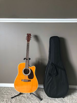 Esteban Acoustic Electric Guitar, Case + Stand for Sale in Spring Hill, TN