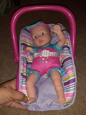 Baby doll with carrier for Sale in Sacramento, CA