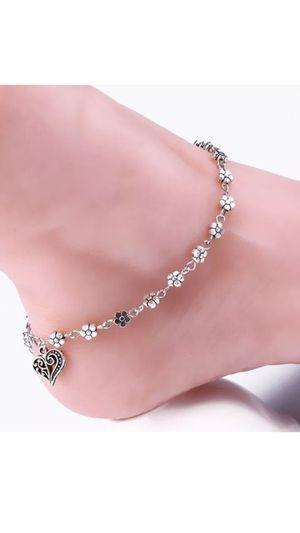Silver Daisy Flower Anklet Ankle Bracelet for Sale for sale  Madison, MS