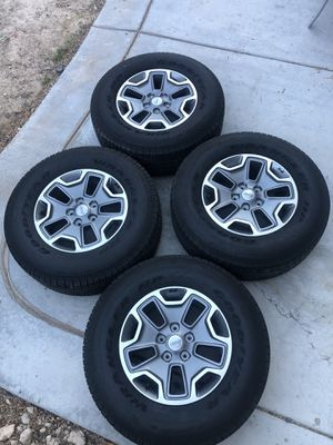 """17"""" wheels 5 x 127mm 5x5 lug pattern with All season tires for Sale in Las Vegas, NV"""