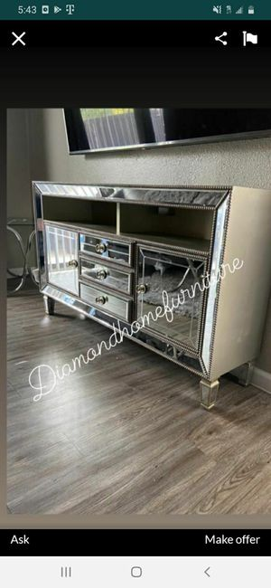 New mirrored TV stand /29 down for Sale in Houston, TX