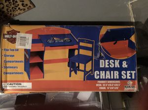Harley-Davidson Desk & Chair Set for Sale in Blacklick, OH