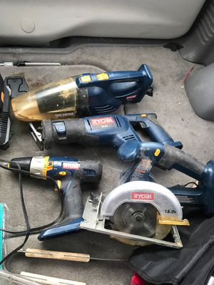 Ryobi tool set great condition lightly used for Sale in Bentonville, AR