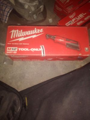 Brand new in box Milwaukee M12 12-Volt Lithium-Ion Cordless 3/8 in. Ratchet (Tool-Only) (558) for Sale in Austin, TX