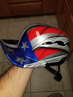 Motorcycle helmet it's a mike pro lids air brushed old glory limited edition for Sale in Goodyear, AZ
