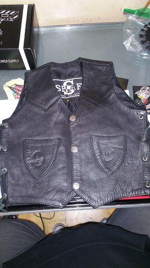 New toddler's leather biker cut/vest size medium for Sale in Everett, WA