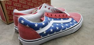 Old Skool Van Doren Stars and Stripes shoe size 10.5 US for Sale in Tacoma, WA