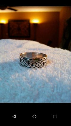Brand new sterling silver unisex Celtic ring size 10..smoke free home for Sale in Hemet, CA