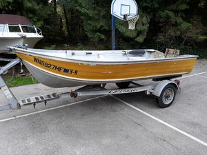 12 Foot Boat and Trailer for Sale in Stanwood, WA