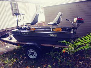Pelican Pontoon Bass Raider Fishing Boat W/Trailer!! for Sale in Flint, MI
