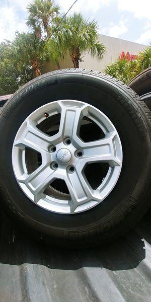 "Jeep stock 17"" wheels... for Sale in Delray Beach, FL"