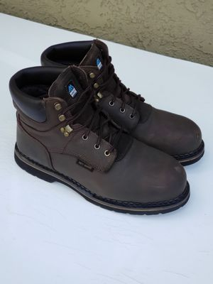Steel toe leather work boots size 13 used couple of times only $30 for Sale in Modesto, CA