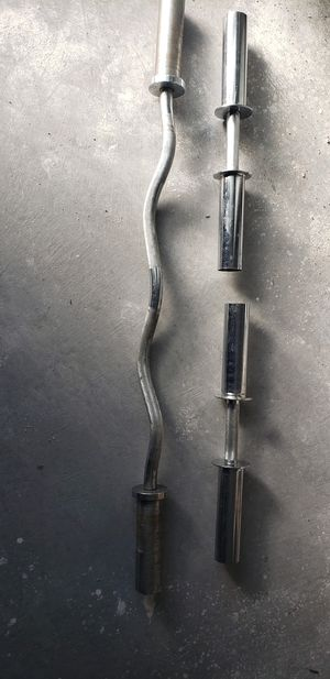 Olympic Curl bar and hand bars for Sale in Las Vegas, NV