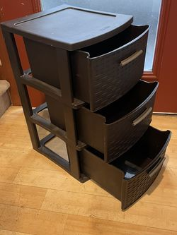 3 Drawers, Plastic, Great For Storing Anything, Printer Paper, Cords, Games And Files for Sale in Seattle,  WA