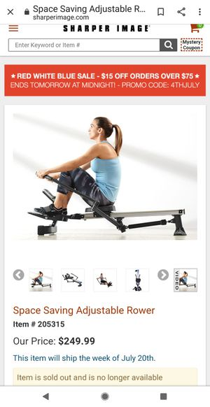 Brand New Sharper Image Space Saving Rower for Sale in Ontario, CA