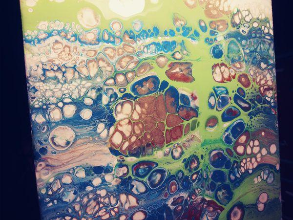 Fluid Art tile or canvas