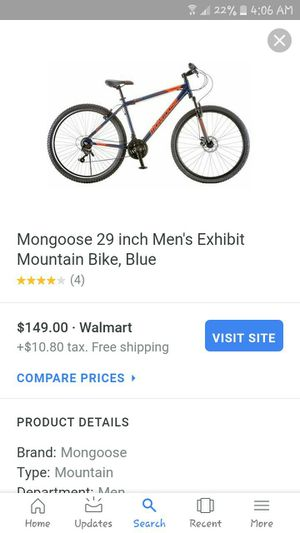mongoose mountain bike, very nice bike brand new road this once just in a rough spot needing cash ASAP i paid about 160$ aaking 60$ thanks for Sale in Newark, OH