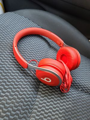Red Beats EP Wired Headphones with IPhone Adapter for Sale in San Diego, CA