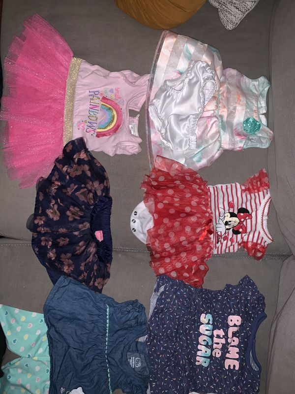 Newborn girl Clothes, socks, pampers bundle deal
