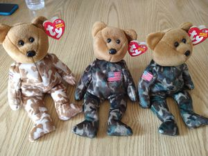2003 Ty 10 years military beanie babies for Sale in Livermore, CA