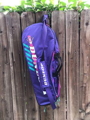 VINTAGE DUNLOP TENNIS RACKET BAG GYM BAG RETRO for Sale in Hawthorne, CA