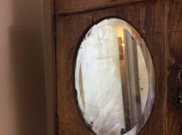 Antique bathroom wall mount cabinet