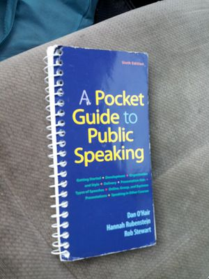 A pocket guide to public speaking 6th edition for Sale in Houston, TX