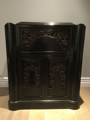 Vintage Asian carved bar for Sale in Los Angeles, CA