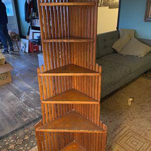 Antique Art Deco Fir Corner Shelf for Sale in Seattle, WA