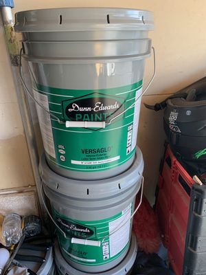 "Dunn Edwards paint ""15 gallons new"" White/Swiss coffee "" for Sale in Riverside, CA"