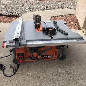 RIDGID 15 Amp 10 in. Table Saw for Sale in Phoenix, AZ