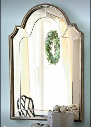 Silver cathedral top mirror for Sale in Portland, OR