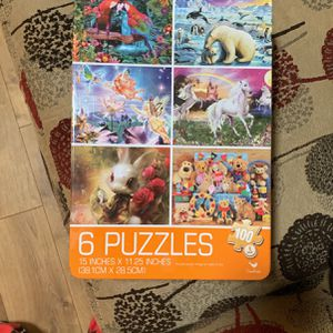 6 100-piece puzzles for Sale in Spring Valley, CA