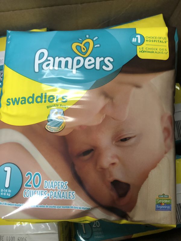 Wholesale priced Pampers Swaddler Diapers - Newborn and Size 1 (Manhattan pickup)