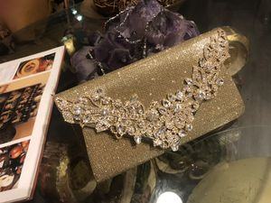 Gold Rhinestone Evening cocktail or Banquet Party Small Clutch Bag for Sale in Phoenix, AZ
