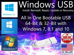Windows bootable USB (all versions) for Sale in Norfolk, VA
