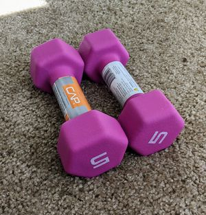 CAP 5 LB pair of dumbbell weights. Brand New. Neoprene coated. Venmo or Cashapp preferred. for Sale in Thornton, CO