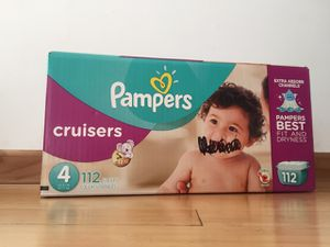 Pampers Cruisers size 4, 112 count, $30 for Sale in San Leandro, CA