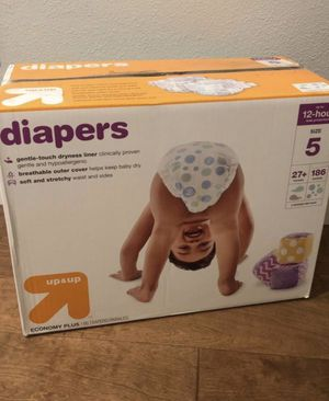 Diapers box size 5 for Sale in Vancouver, WA