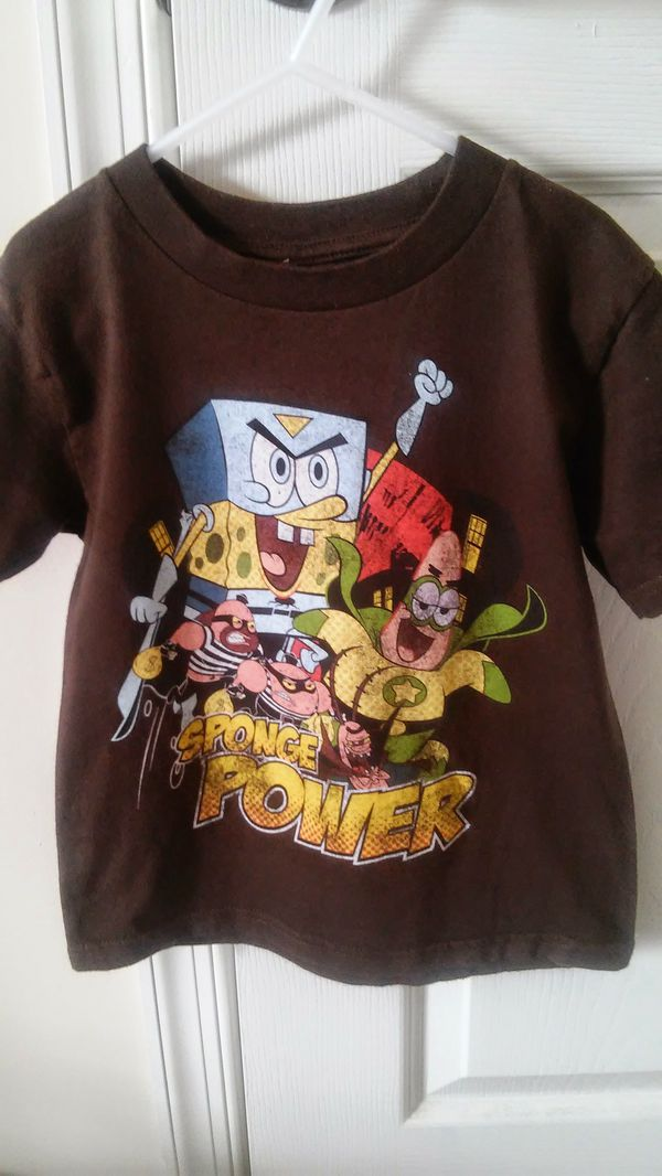 4/5 size boys ™Nickelodeon Spongebob Brown t shirt