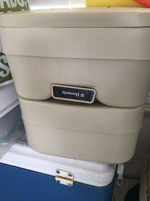 Make me an offer! 2.5 gallons marine/rv potty Only took on the boat - don't need. Dometic Portable RV/Marine Toilet for Sale in Dover, FL