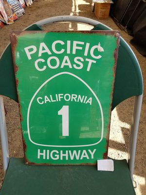 Pacific coast highway 1 pch steel metal sign for Sale for sale  Vancouver, WA