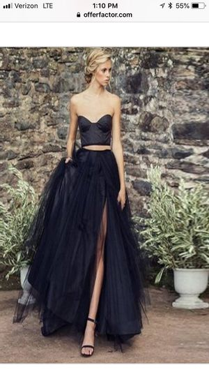 Long Black Tulle Skirt with Side Split for Sale in Washington, DC