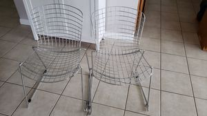 Metal wire chairs for Sale in Yorba Linda, CA