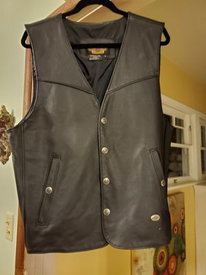 Harley Davidson Leather Motorcycle Vest LARGE for Sale in Ontario, CA