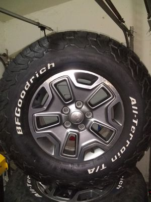 Jeep Rubicon wheels with K02 tires for Sale in Cypress, TX