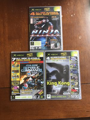 Official Xbox Magazine Demo Disc Tall Case Lot Of 3. OXM 29, 41 & 52 for Sale in Phoenix, AZ