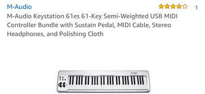 M-Audio Keystation 61es 61-Key Semi-Weighted USB MIDI for Sale in San Diego, CA
