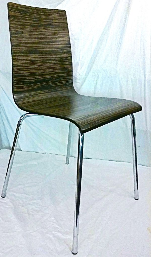 Dining chairs, SET OF FOUR mid 20th century contemporary modern